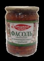 Фасоль Давыдовская в томатном соусе с грибами 520 г ст/б 1/11