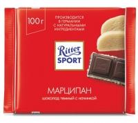 Ritter Sport Шоколад тёмный с Марципаном 100 гр 1/12