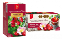 """Чай чёрный """"Краснодарский"""" ШИПОВНИК  (25 пак.*1,7 гр) с/яр 1/20"""
