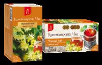 """Чай чёрный """"Краснодарский"""" ЛИПА и МЁД  (25 пак.*1,7 гр) с/яр 1/20"""