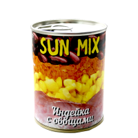 Sun mix  Индейка с овощами  340 гр. 1/45