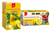 """Чай чёрный """"Краснодарский"""" ЛИМОН  (25 пак.*1,7 гр) с/яр 1/20"""