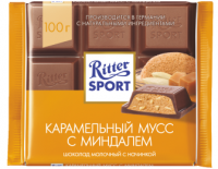 Ritter Sport Шоколад молочный карамельный мусс 100 гр 1/11