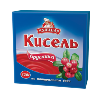 Кисель Кулинар брусника брикет 220 г 1/30