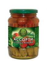 Ассорти томаты+огурцы Золотой Глобус 1,800 мл 1/4