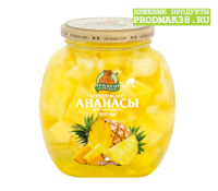 Компот Ананасы кусочки  М.Л. 580 мл ст/б 1/12
