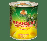 Компот Ананасы кружочки М.Л. 580 мл ж/б 1/24