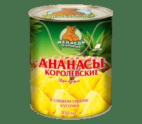 Компот Ананасы кусочки М.Л. 850 мл ж/б 1/12