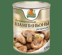 Шампиньоны резанные М.Л. 850 мл ж/б 1/12