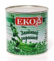 Горошек зеленый  Эко 400 гр  ж/б 1/12