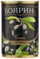 """Маслины """"Бояринъ"""" б/к 300 мл ж/б, 1/12"""