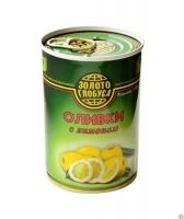 Оливки с лимоном Золото Глобуса 300 г ж/б 1/12