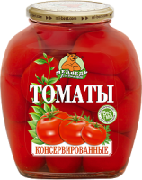 Томаты  консервированные М.Л. 1500 мл ст/б 1/6