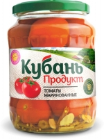 Томаты маринованные Кубаньконсерв, ст/б 680, 1/8 шт
