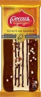 Шоколад ЗОЛОТАЯ МАРКА  Дуэт с фундуком 85 гр 1/10