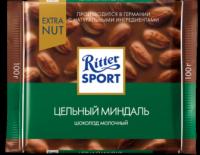 Ritter Sport Шоколад молочный с цельным миндалём 100 гр 1/11