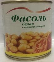 Фасоль в томатном соусе белая Красная Линия 400г ж/б 1/15