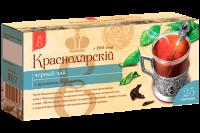 "Чай чёрный ""Краснодарский"" бергамот (25 пак.*1,7гр) с/яр 1/24"