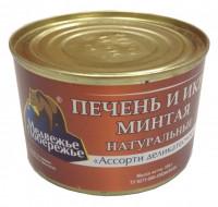 Ассорти печень и икра минтая Медвежье побережье 220 г 1/48