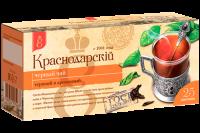 "Чай чёрный ""Краснодарский"" (25 пак.*1,7 гр) с/яр 1/24"