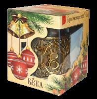 """Подарочный набор """"Подстаканник ВЕКА"""" с листовым чёрным чаем 30 гр"""