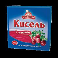 Кисель Кулинар клюква брикет 220 г 1/30