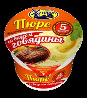 """Пюре картофельное со вкусом говядины ТМ """"Бабушкин Хуторок"""" 40 гр 1/24"""