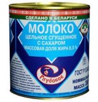 Молоко цельное сгущеное Глубокое  8,5%  380 г ж/б 1/30