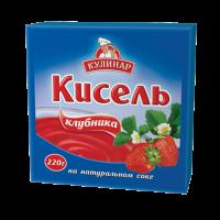 Кисель Кулинар земляника брикет 220 г 1/30