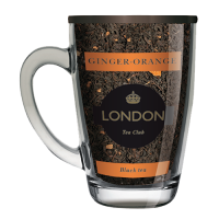 Чай Лондон черный Имбирь-апельсин в стеклянной кружке 70 г 1/12