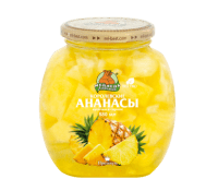 Компот Ананасы кусочки НОВИНКА М.Л. 580 мл ст/б 1/12