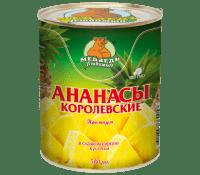 Компот Ананасы кусочки М.Л. 580 мл ж/б 1/24