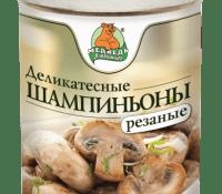 Шампиньоны  резанные М.Л. 3100 мл ж/б 1/6