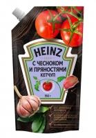 Кетчуп Хайнц  350 гр. С чесноком и пряностями д/пак 1/16