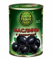 Маслины с косточкой Золото Глобуса 300 г 1/12