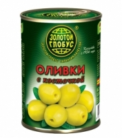 Оливки с косточкой Золото Глобуса 300 г ж/б 1/12