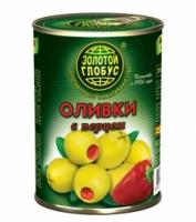Оливки с перцем Золото Глобуса 300 г ж/б 1/12