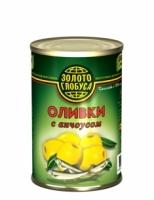Оливки с анчоусом Золото Глобуса 300 г ж/б 1/12