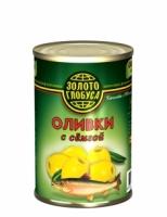 Оливки с семгой Золото Глобуса 300 г ж/б 1/12