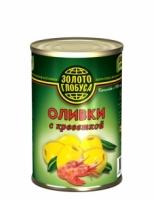 Оливки с креветкой Золото Глобуса 300 г ж/б 1/12