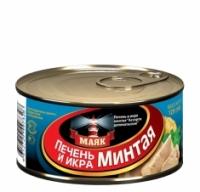 Печень + икра минтая ключ МАЯК 125 г ж/б 1/36